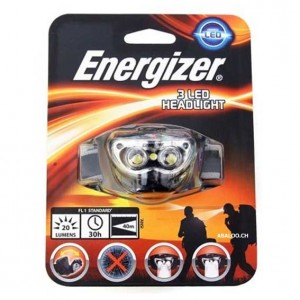 Lampe frontale 3LED Headlight Energizer
