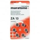 6 Piles zinc-air Renata ZA 13 265 mAh 1.4 V