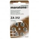 6 piles bouton Renata ZA312 zinc-air 1,4V 180 mAh