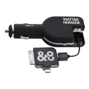 Car charger USB + adaptateur