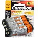 Pack de 4 accus rechargeables Camelion LR06 Ni-MH 2700 mAh