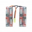 Pack batterie NiMh 9.6V - 2000mAh Connecteur airsoft (V SHARP)